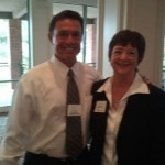Kathy Perry at Costa Mesa Chamber Meeting